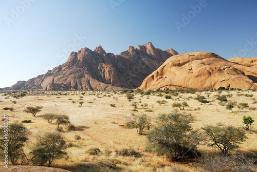 Spitzkoppe panorama, Namibia Poster