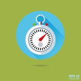 stop watch flat design vector icon