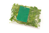 Parsley leaves packed in plastic bag isolated on white - 165805917
