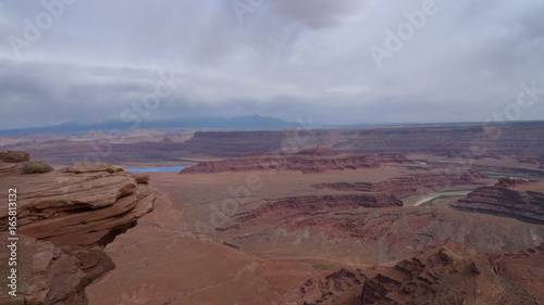 Foto op Aluminium Diepbruine canyon