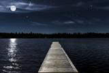 Mondnacht am See - 165826566