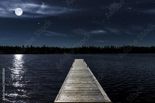 mata magnetyczna Mondnacht am See