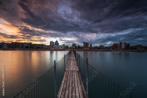 Foto op Aluminium Pier Sunset in jesolo