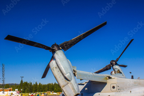Juliste Tilted Propellers On Large Cargo Plane At Local Airshow