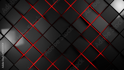 grey and red squares modern background illustration