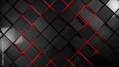 szarość i czerwonych kwadratów tła nowożytna ilustracja
