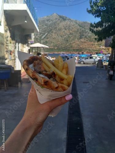 Tasty fastfood gyros