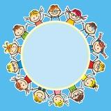 happy kids, banner, vector icon