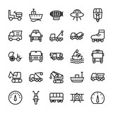 Automobile Line  Icons 3 Wall Sticker