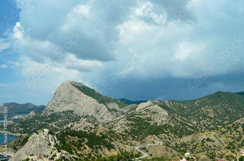 Foto op Plexiglas Pool Mountain summer landscape.