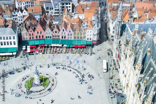 Aluminium Brugge Bruge / Brugges, old town in Belgium