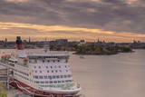 Stockholm zachód słońca