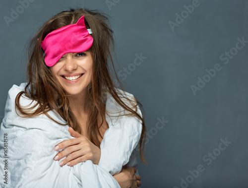 Juliste Smiling woman wake up concept portrait.