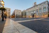 Barcelona. Plac św. Jakuba o świcie.