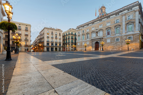 Barcelona. St. James's Square at dawn.