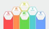 Colorful Infographic Elements with Hexagon Shapes - 165852397