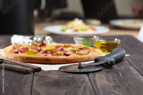 Fotobehang Pizzeria tasty pizza