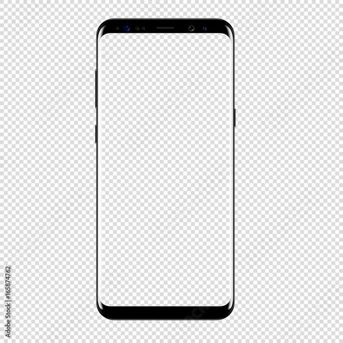 Fototapeta smart phone vector drawing isolated transparent background