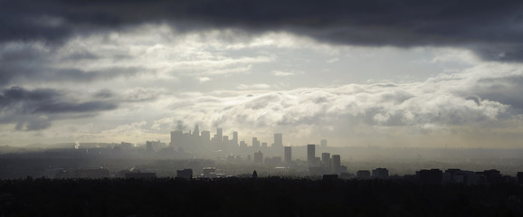 passing storm, los angeles