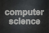 Science concept: Computer Science on chalkboard background