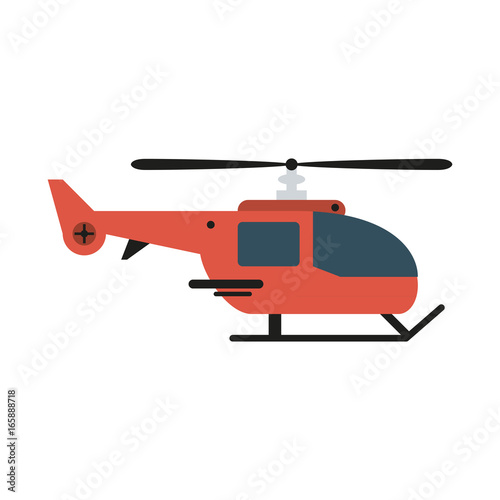Fototapeta helicopter sideview icon image