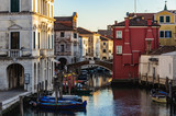 The canals and the old town in Chioggia, Italy