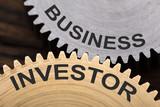 Business Investor Concept On Interlocked Cogwheels - 165894926