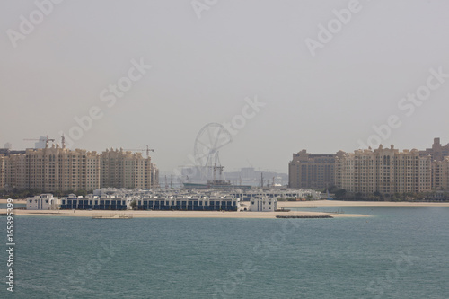 Dubai Marina view from palm jumeirah island, United Arab Emirates