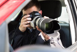 Private Detective Photographing With Slr Camera - 165903501