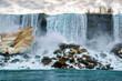 Niagara Falls at American early spring