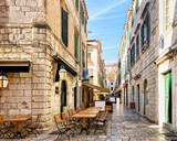 Open Street terrace restaurant in Dubrovnik - 165909759