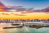 Tokio, Japonia skyline na zatoce.