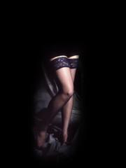 Sfondo con gambe di donna