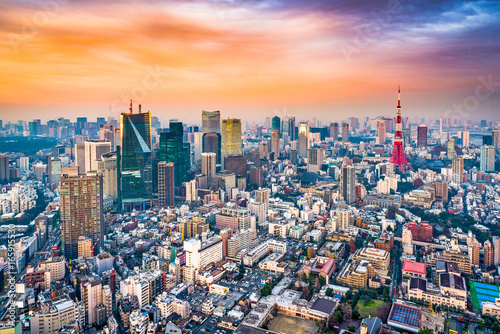 Fotobehang Tokio Tokyo Japan Skyline