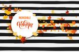 Hello fall striped banner