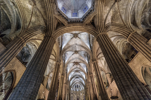 Interior of the Cathedral of Barcelona, Spain