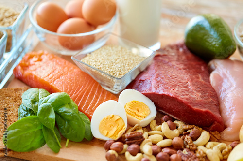 natural protein food on table