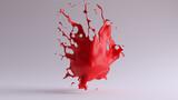Red Paint Splash - 165923381