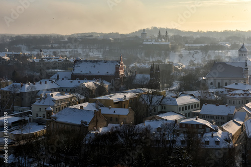 Vilnius winter panorama from Gediminas castle tower. Vilnius. Lithuania Photo by Evdoha