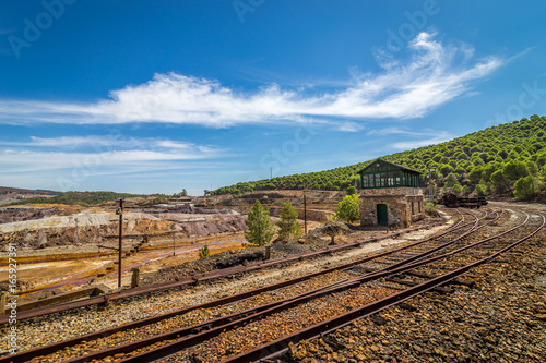 Tuinposter Rio de Janeiro Rio Tinto kopalnia odkrywkowa w Hiszpanii