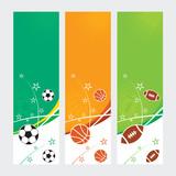 Sports Banners - Soccer, Football & Basketball
