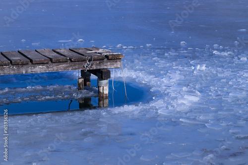 Foto op Aluminium Pier molo con ghiaccio