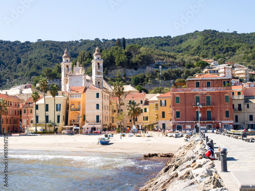 Laigueglia, view from the sea Poster