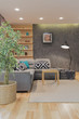 Quadro Modern room with grey couch