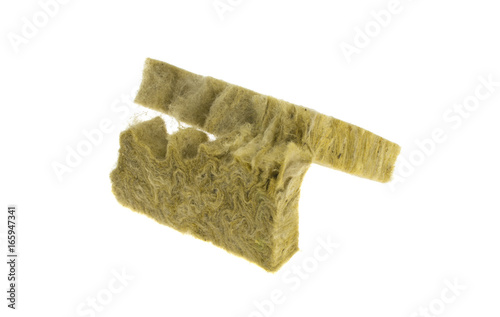 Stone mineral wool insulation on a white background buy for Buy mineral wool