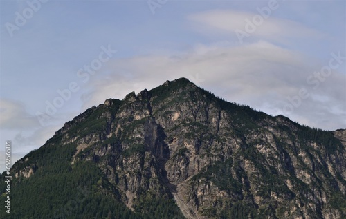 Poster Grijze traf. Berg in den Alpen