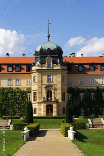 Poster Baroque Castle Lany, summer residence of President of Czech Republic