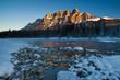 Castle Mountain in Banff National Park, Alberta, Canada