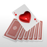 3d wyskakuje gra karty pasuje jako serce