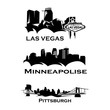 Cityscapes Skylines of america washington, new york, dallas, las vegas, hauston, los angeles, minneapolise, pittsburgh, san francisco, seattle, madison, philladelphia, miami, chicago - 165970104